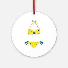 Polka Dot Bikini Ornament (Round)