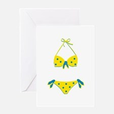 Polka Dot Bikini Greeting Cards