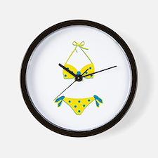 Polka Dot Bikini Wall Clock