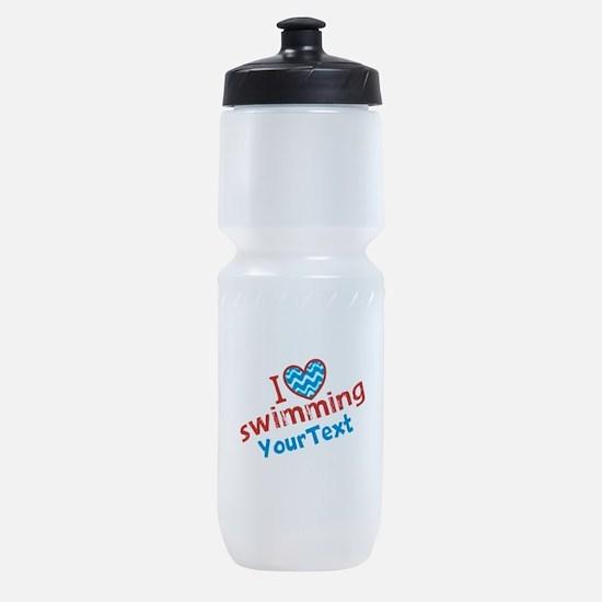Custom Swim Optional Text Sports Bottle