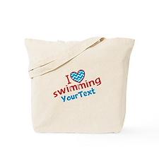 Custom Swim Optional Text Tote Bag