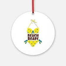 Beach Ready Ornament (Round)