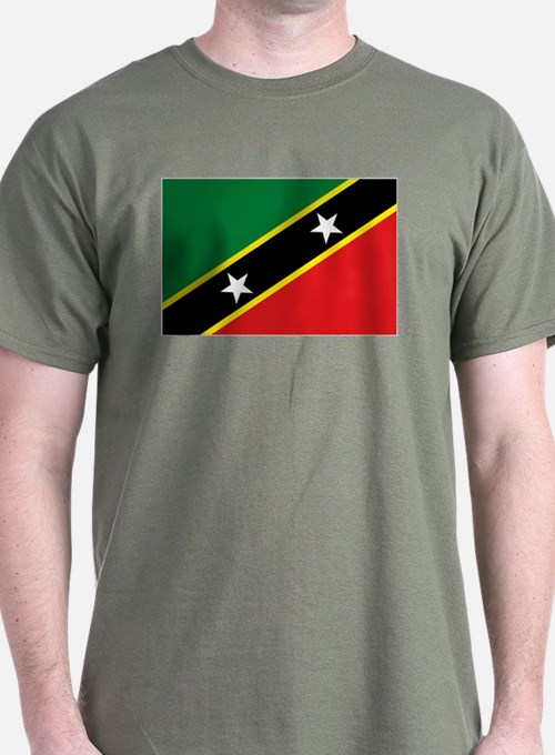 St Kitts flag T-Shirt