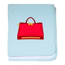 Red Purse baby blanket