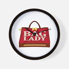 Bag lady Wall Clock