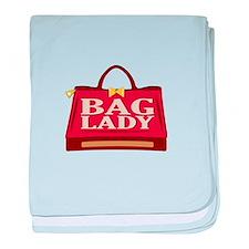 Bag lady baby blanket