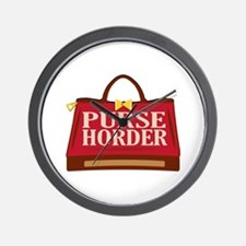 Purse Horder Wall Clock