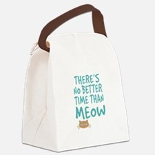 Time Than Meow Canvas Lunch Bag