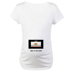 Bun in the Oven Belly Design Maternity Shirt