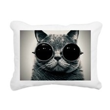 Shades on Cats Rectangular Canvas Pillow