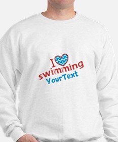 Swimming Optional Text Sweatshirt