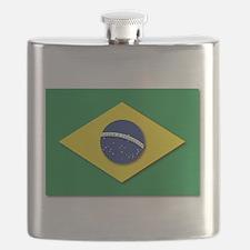 Flag - Brazil (Brasil) Flask