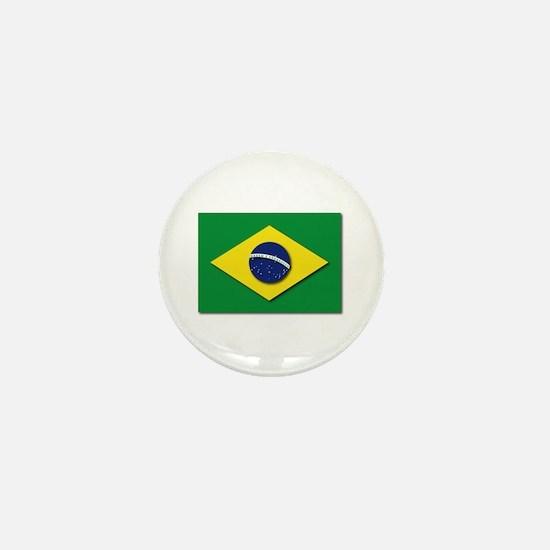 Flag - Brazil (Brasil) Mini Button