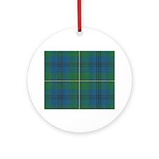 Johnson Plaid Tartan Ornament (Round)
