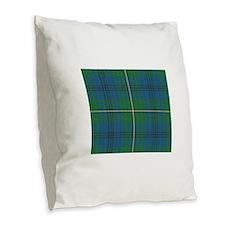 Johnson Plaid Tartan Burlap Throw Pillow