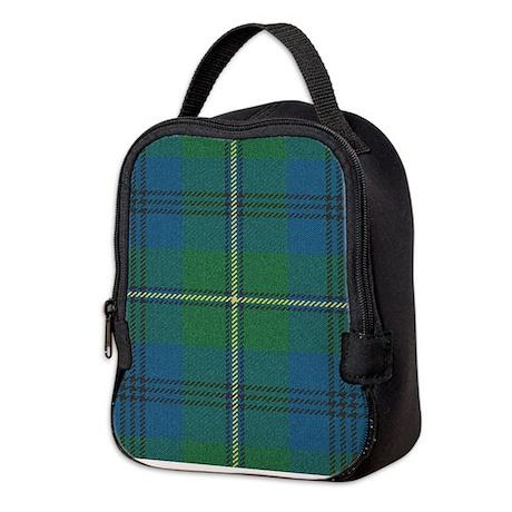 Johnson Plaid Tartan Neoprene Lunch Bag
