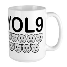 YOLO YOL9 You only Live Once Nine Lives Cat Cats M