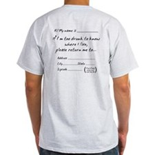 Drunk Mail. If Im Too Please Return Me T-Shirt