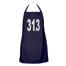 Distressed Detroit 313 Apron (dark)