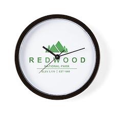 RedWood National Park, California Wall Clock