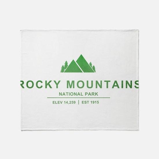 Rocky Mountains National Park, Colorado Throw Blan