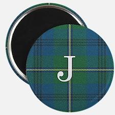Johnson Family tartan plaid Monogrammed Magnets