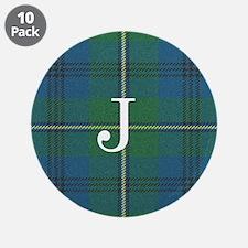 "Johnson Family tartan plaid Monogrammed 3.5"" Butto"