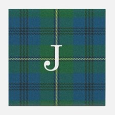 Johnson Family tartan plaid Monogrammed Tile Coast