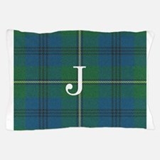 Johnson Family tartan plaid Monogrammed Pillow Cas