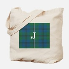 Johnson Family tartan plaid Monogrammed Tote Bag