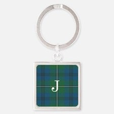 Johnson Family tartan plaid Monogrammed Keychains