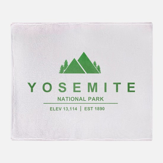 Yosemite National Park, California Throw Blanket