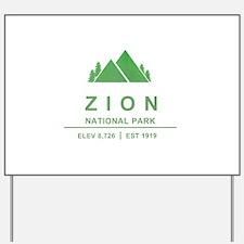 Zion National Park, Utah Yard Sign