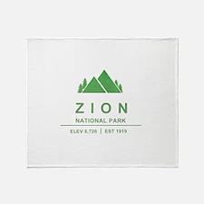 Zion National Park, Utah Throw Blanket