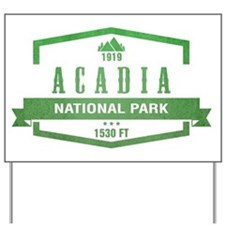 Acadia, Maine National Park Yard Sign