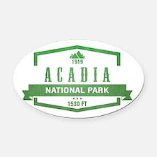 Acadia, Maine National Park Oval Car Magnet