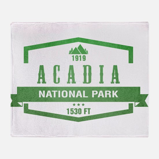 Acadia, Maine National Park Throw Blanket