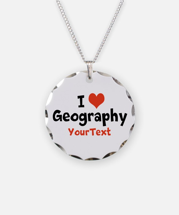 Love Geography Optional Text Necklace