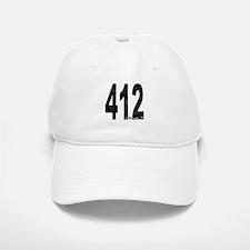 Distressed Pittsburgh 412 Baseball Baseball Baseball Cap