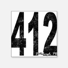 Distressed Pittsburgh 412 Sticker