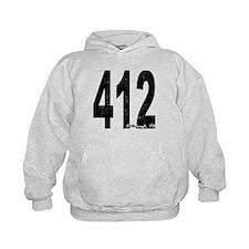 Distressed Pittsburgh 412 Hoodie