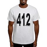 Distressed 412 Mens Light T-shirts