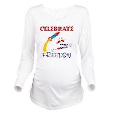 Freedom: Long Sleeve Maternity T-Shirt
