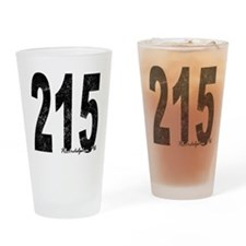 Distressed Philadelphia 215 Drinking Glass