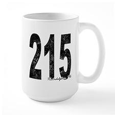 Distressed Philadelphia 215 Mugs