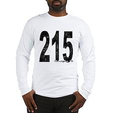 Distressed Philadelphia 215 Long Sleeve T-Shirt
