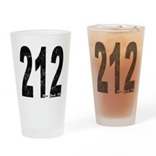 Distressed New York 212 Drinking Glass