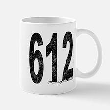 Distressed Minneapolis 612 Mugs