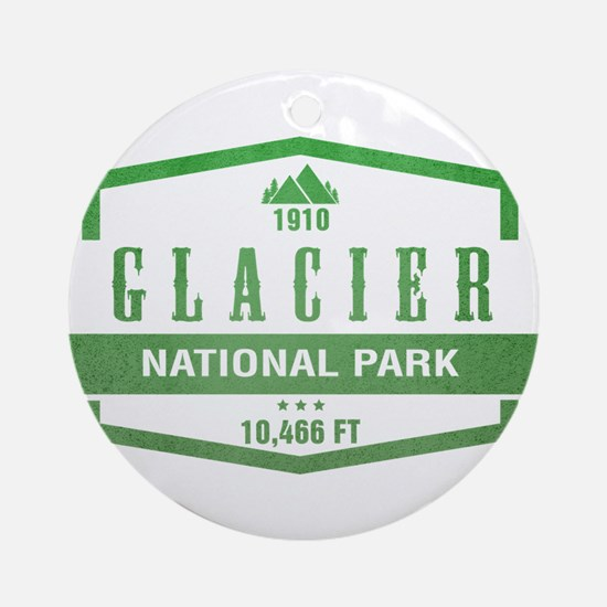 Glacier National Park, Montana Ornament (Round)