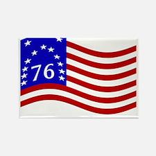 Waving Bennington 76 Flag Magnets